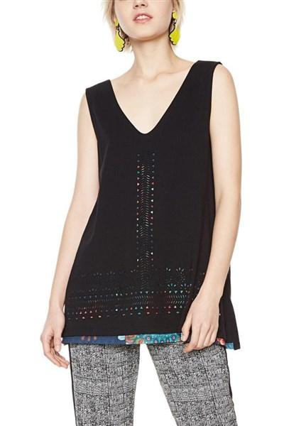 tričko Desigual Cruel Summer negro velikost  L  7f07a8d4f2d