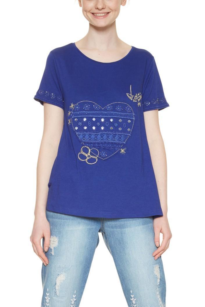 tričko Desigual Artemis spectrum blue  5d4bea71dd2