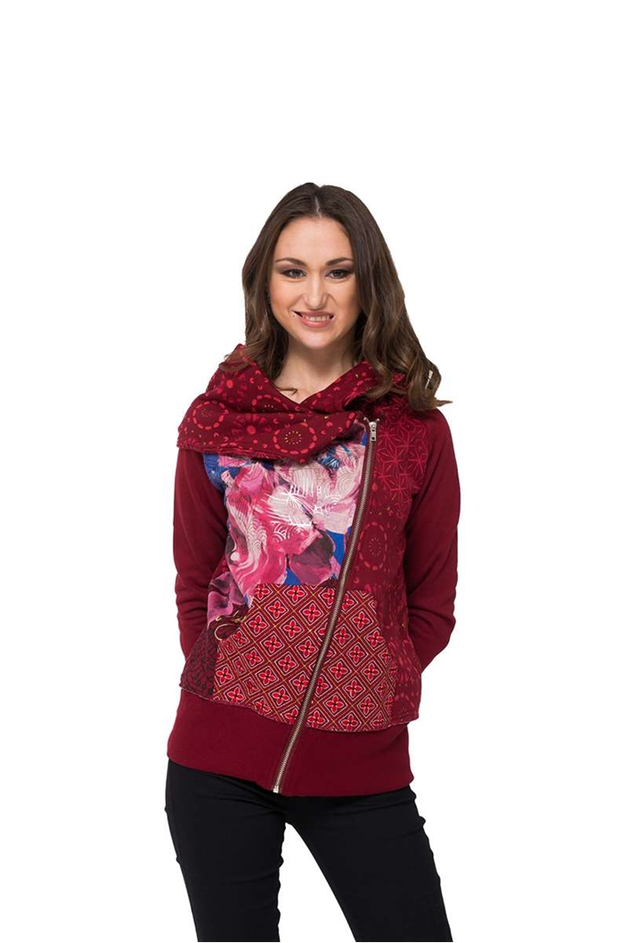 mikina Desigual Perfectly Imper rosa mora