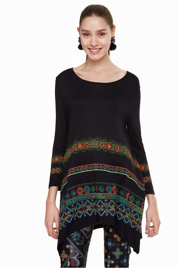 tričko Desigual Aleia negro  c05ad3468c5