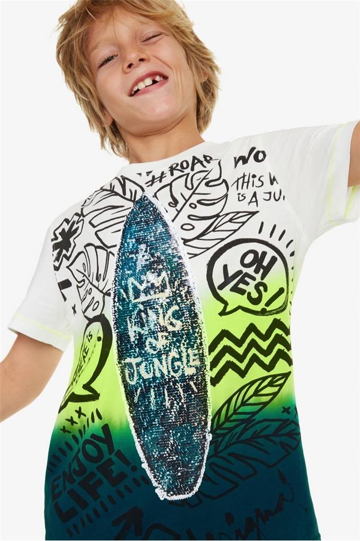 tričko Desigual Marc acido