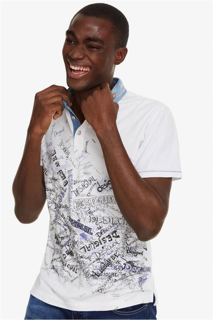 tričko Desigual Gabriel blanco