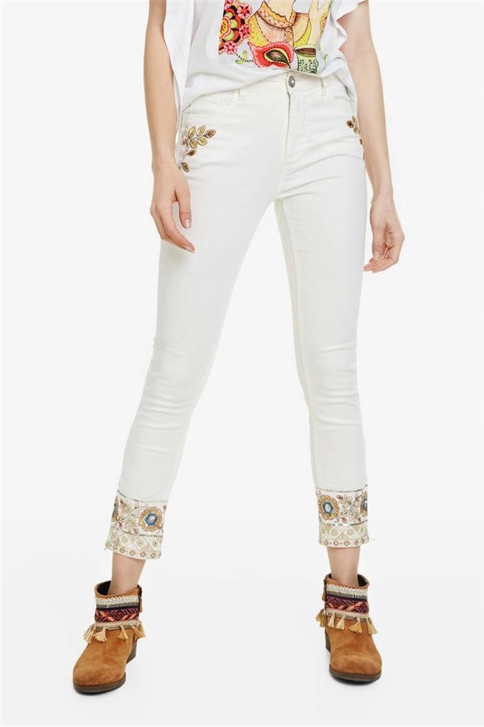 jeansy Desigual Sari White denim nature