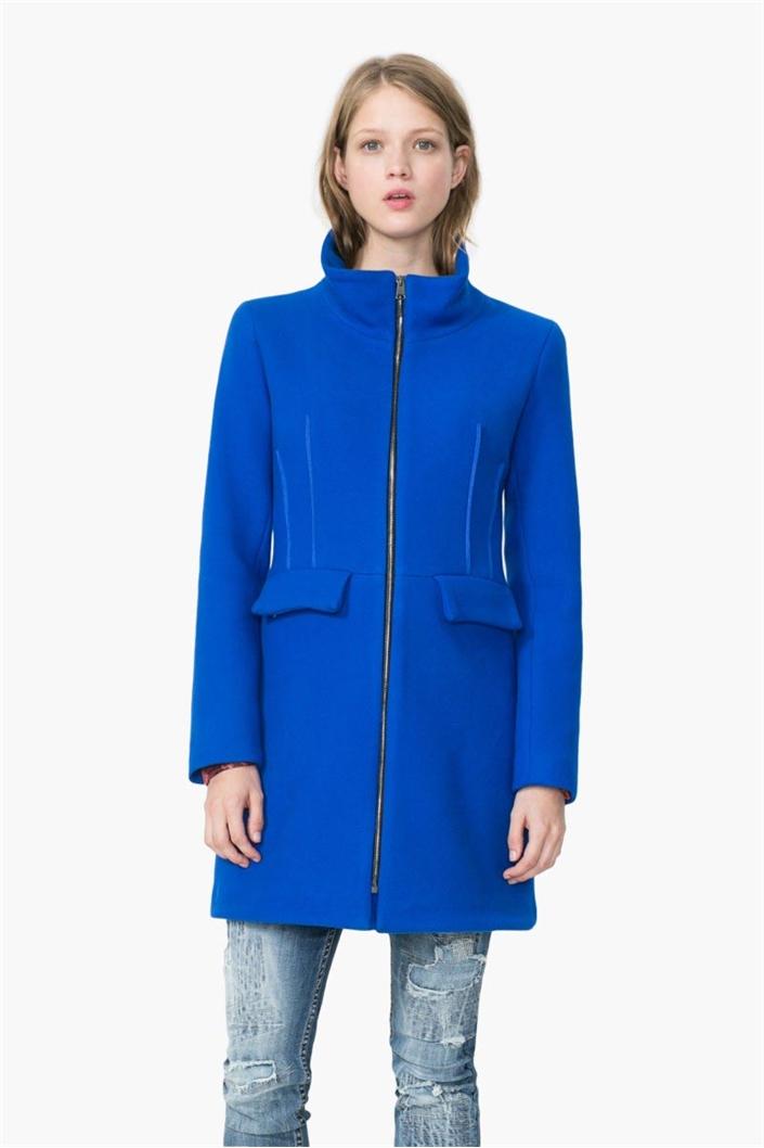 703d05bc1 kabát Desigual Julieta royal   dsgl.sk