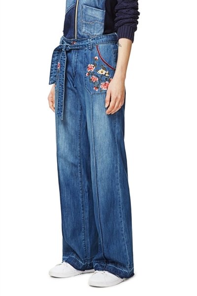 džínsy Desigual Claudia denim dark blue