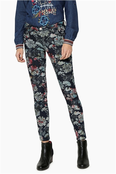 džínsy Desigual Skinny denim medium wash