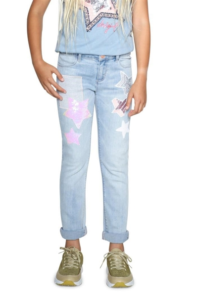 džínsy Desigual Denim Moril denim light wash