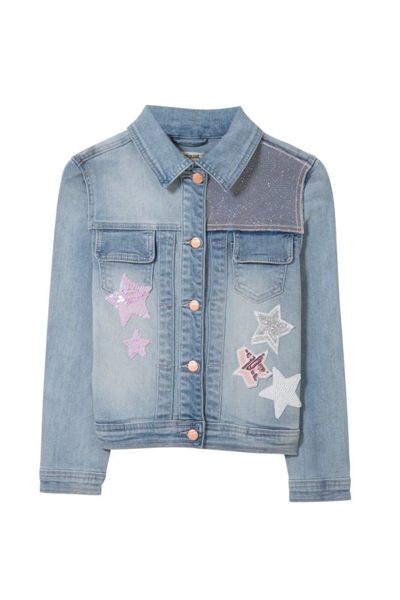bunda Desigual Chaq Pencas denim light wash