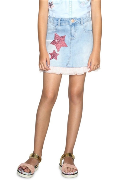 sukňa Desigual Fal Granoll denim light wash