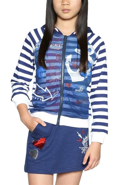mikina Desigual Sweat Cela navy