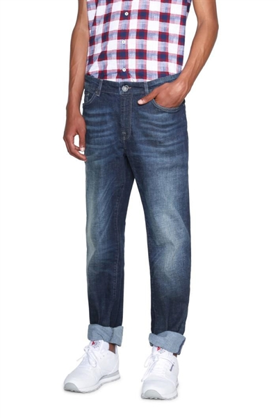 džínsy Desigual Denim Robert denim dark blue