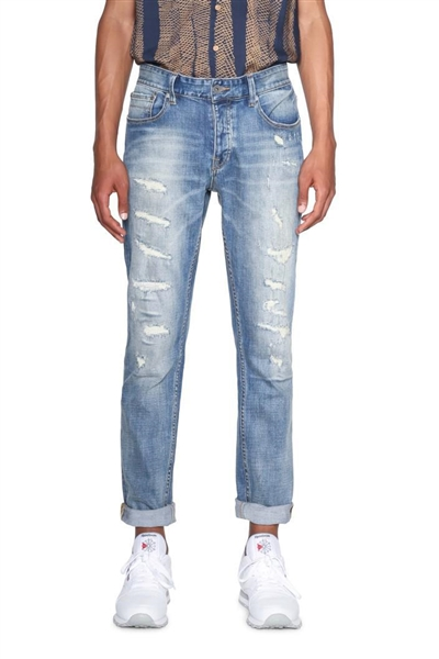 džínsy Desigual Denim Peter denim medium wash