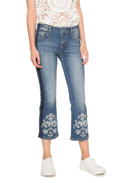 jeansy Desigual Denim Maggy denim medium wash