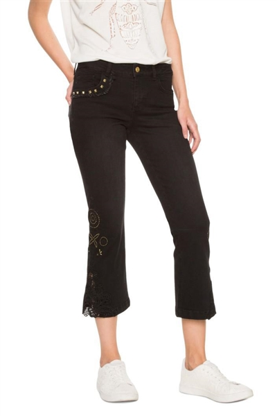 jeansy Desigual Denim Sylvett denim black wash