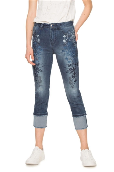 jeansy Desigual Karen denim dark blue