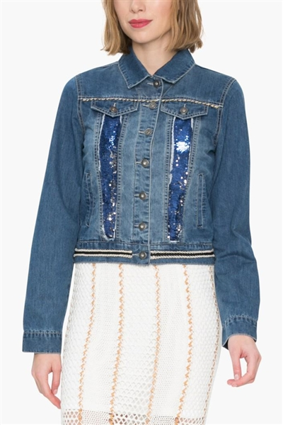 bunda Desigual Gia denim medium wash