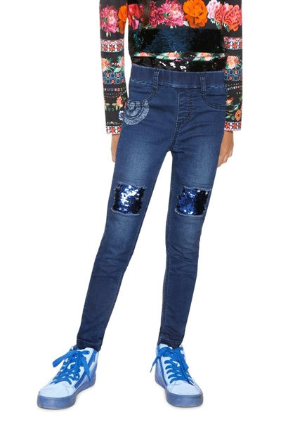 džínsy Desigual Pubill denim dark blue