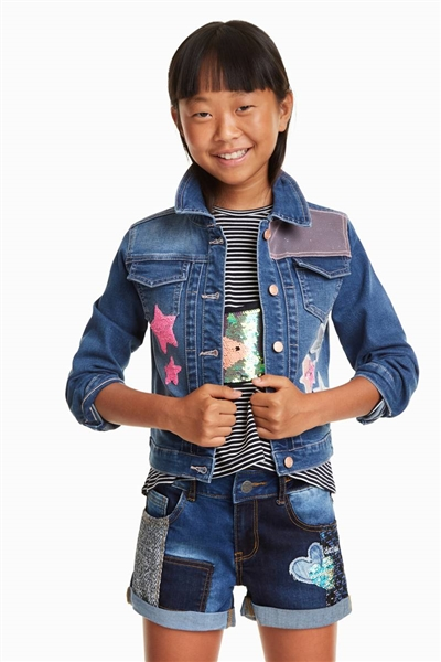bunda Desigual Tavernoles denim medium wash