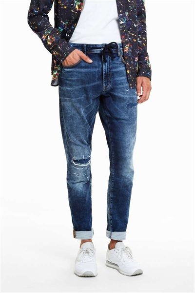 džínsy Desigual Carson denim medium wash