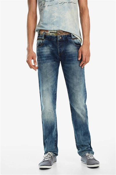 džínsy Desigual Diego denim medium wash
