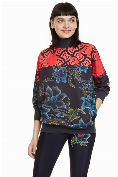 mikina Desigual Geopatch peacoat