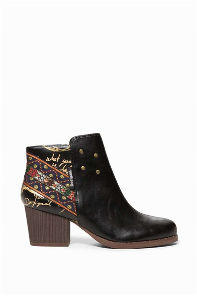 topánky Desigual Countar Exotic Ankle negro