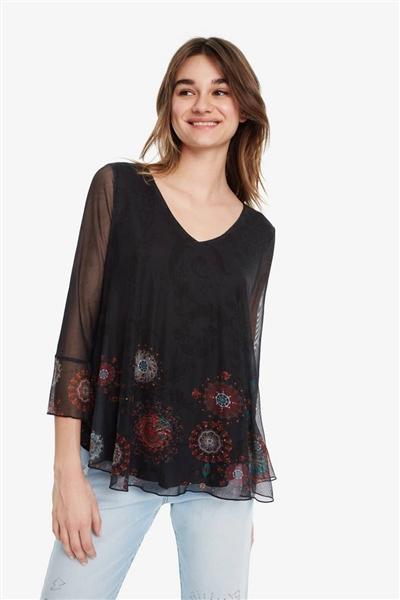 tričko Desigual Brulé negro 87a55a230f1