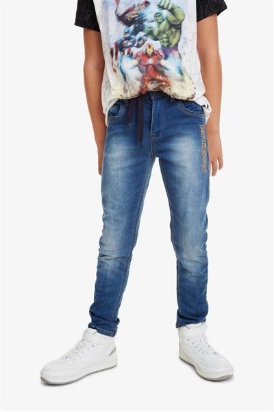 džínsy Desigual Cross denim medium dark