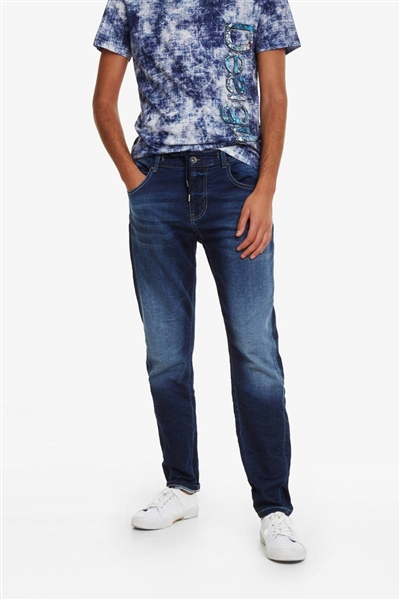 džínsy Desigual Blas denim medium wash