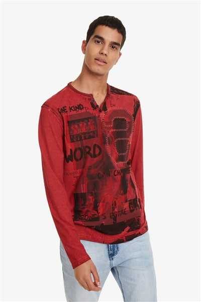 tričko Desigual Emilio rojo loft 61c3b6800f1