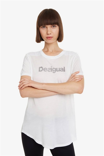 Desigual Essentials Tee blanco