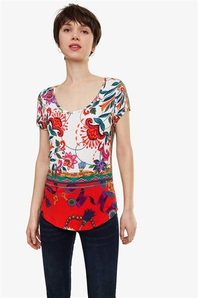 tričko Desigual Leonor blanco 3d782108814