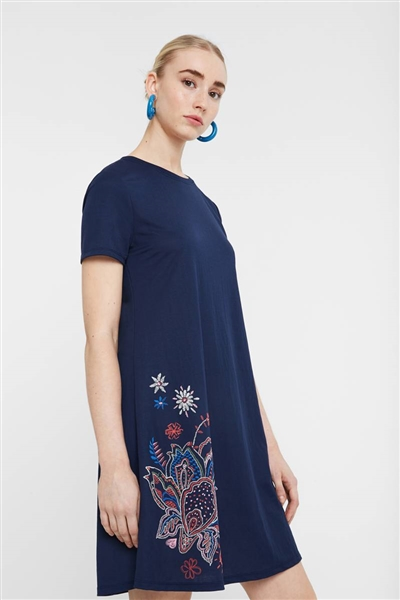 šaty Desigual Blue Summer navy