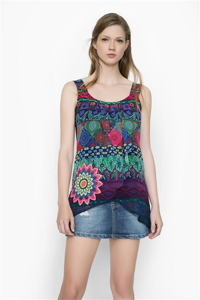blúzka Desigual Magic Rep navy